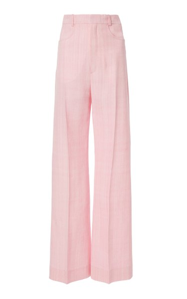 Sauge Silk-Blend Straight-Leg Trousers