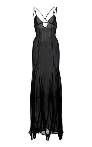 Basgia Organic Cotton-Blend Maxi Slip Dress