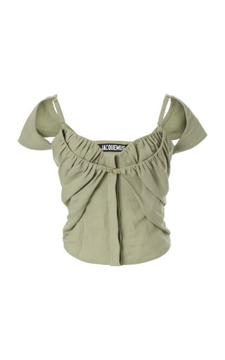 Tovallo Layered Linen-Blend Top