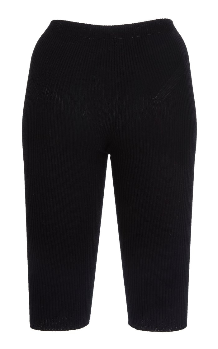Arancia Ribbed-Knit Knee-Length Shorts
