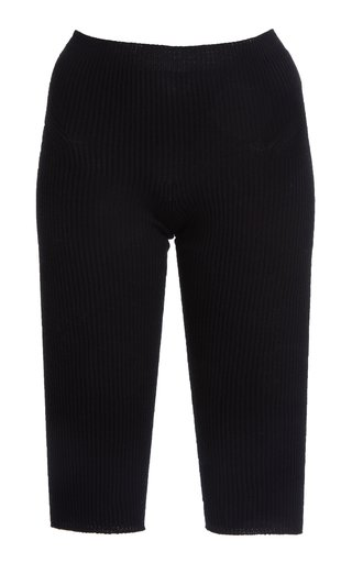Arancia Ribbed-Knit Knee-Length Shorts