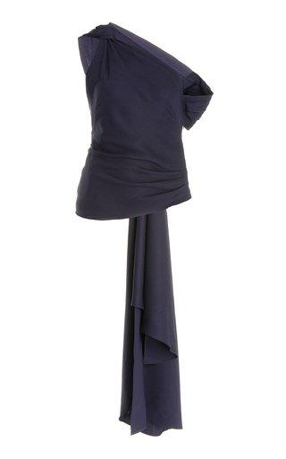 Asymmetric Draped Jersey Blouse