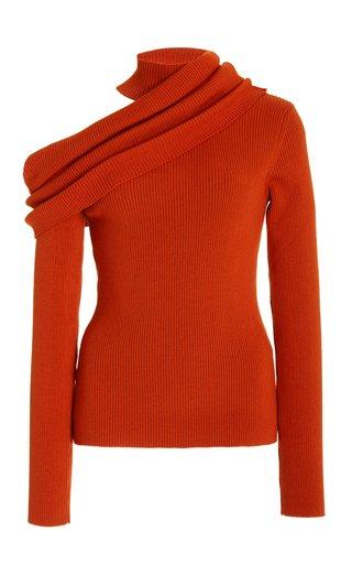 Off-The-Shoulder Wool-Blend Top