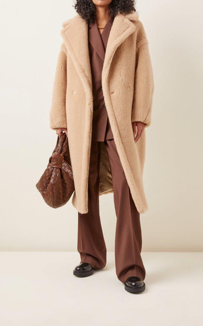 Camelhair and Silk-Blend Teddy Coat