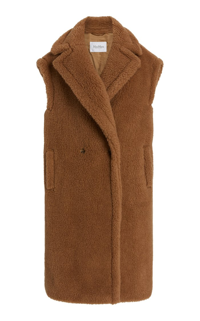 Alce Oversized Camelhair and Silk-Blend Vest