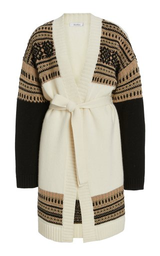 Buona Belted Wool and Cashmere-Blend Cardigan