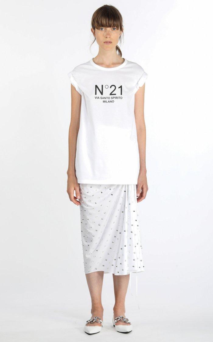 Oversized Logo-Print Cotton T-Shirt