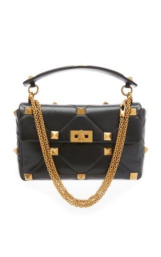 Roman Stud Large Leather Shoulder Bag