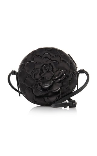 Valentino Garavani Atelier Small Rose Round Flower Patent Leather Shoulder Bag