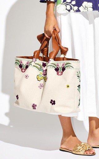 Valentino Garavani Atelier Bow Embroidered Tote