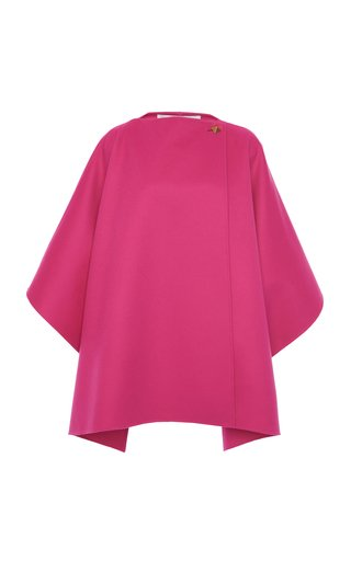 Rockstud-Detailed Wool-Cashmere Cape
