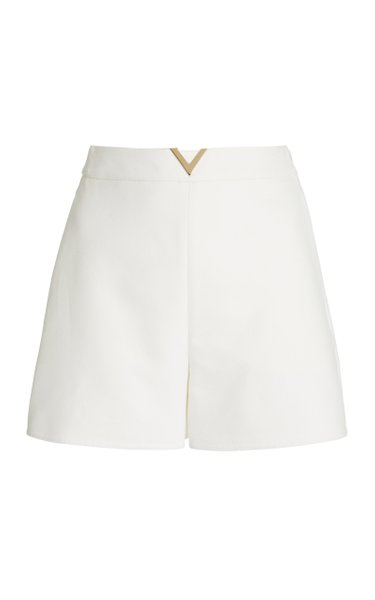 Logo-Detailed Cotton-Gabardine Mini Shorts
