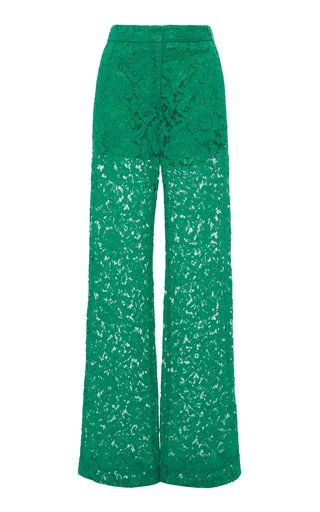 Heavy Lace Wide-Leg Pants