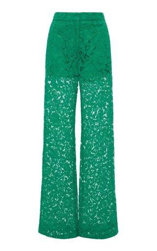 Lace Wide-Leg Pants