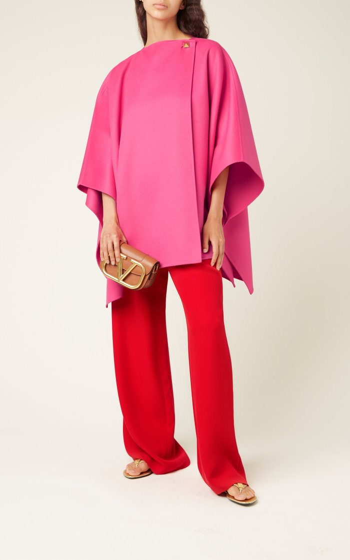 Drawstring Silk Cady Wide-Leg Pants