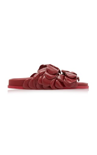 Valentino Garavani Rose Leather Slides