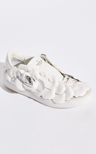 Valentino Garavani Rose Embroidered Sneakers