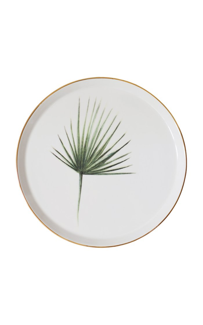Set Of 4 Mixed Sicilian Botanicals Dinner Plates