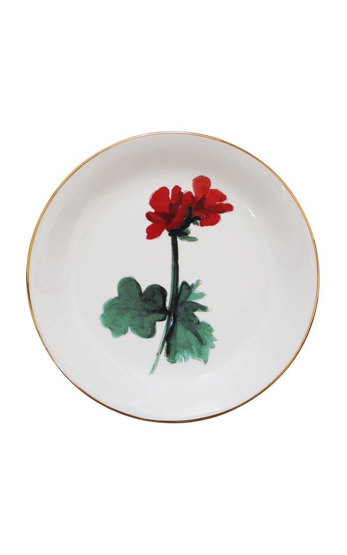 Set Of 4 Mixed Sicilian Botanicals Dessert Plates