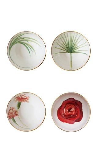 Set Of 4 Mixed Sicilian Botanicals Bowls