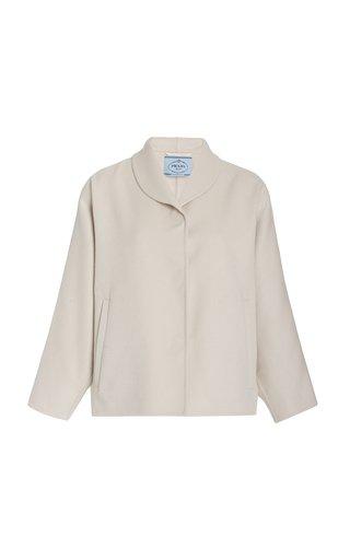 Cashgora Cropped Cocoon Jacket