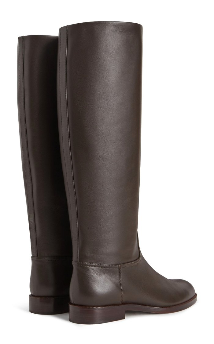 Leather Knee High Riding Boots