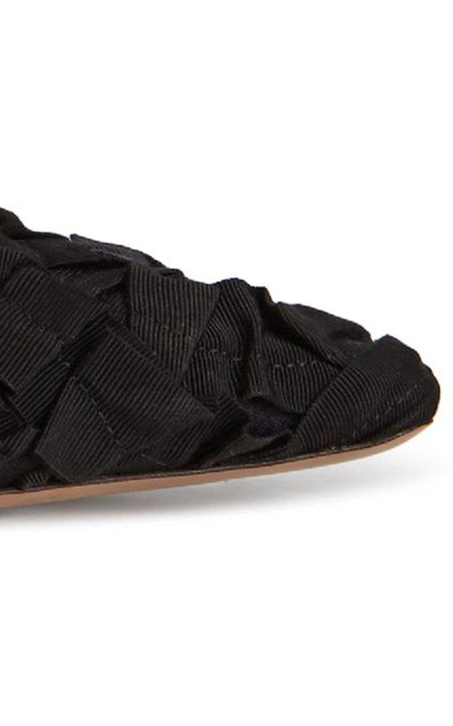 Grosgrain Leather Slippers