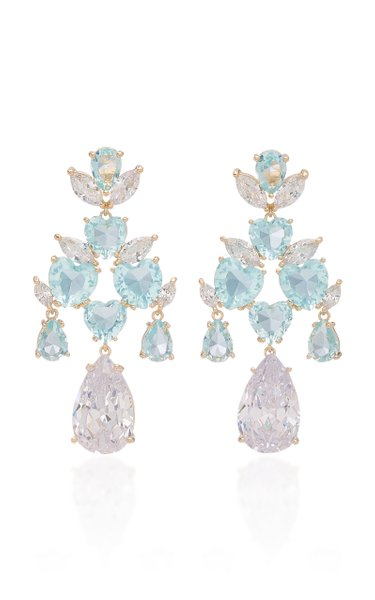 'Candy' Crystal-Embellished Gold-Plated Earrings