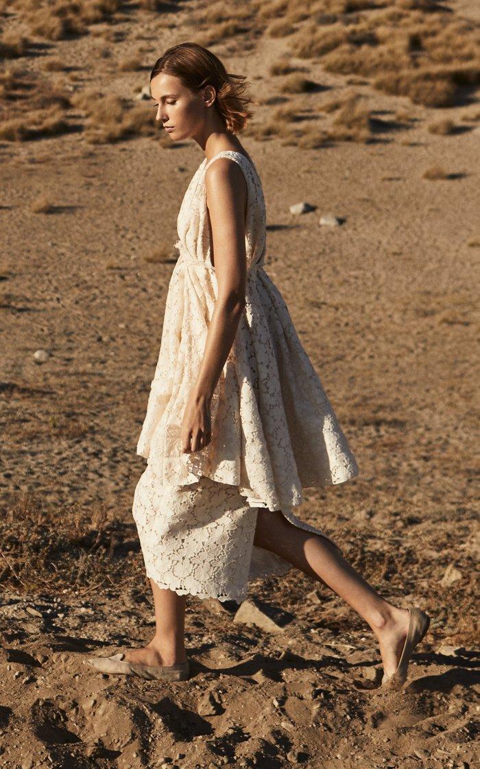 Stella Cotton-Blend Lace Midi Skirt