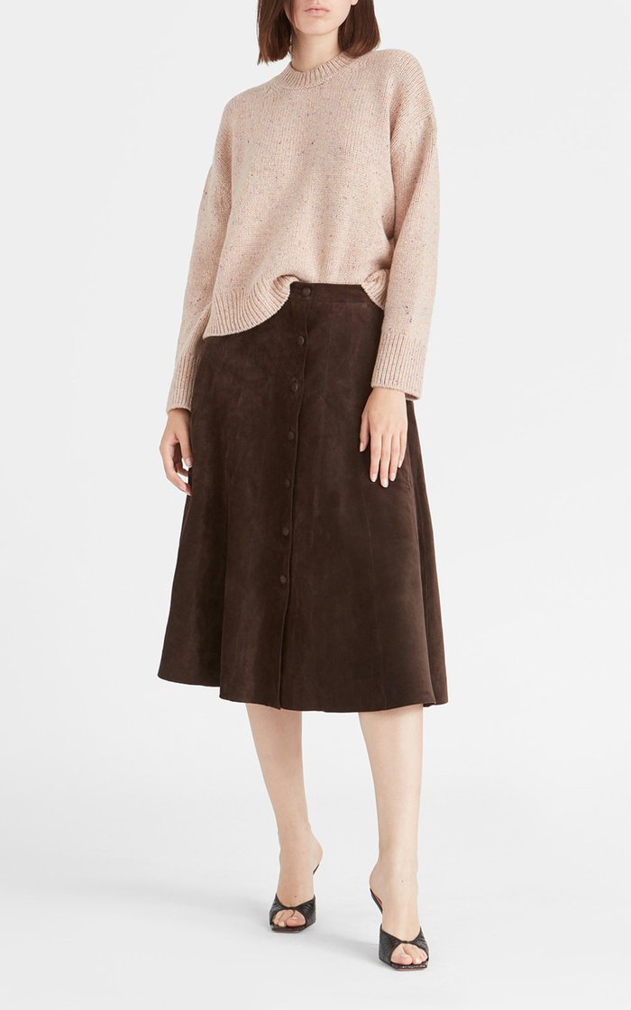 Soave Suede Midi Skirt