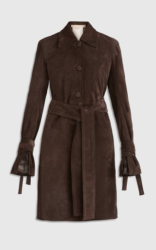 Selvaggia Belted Suede Coat