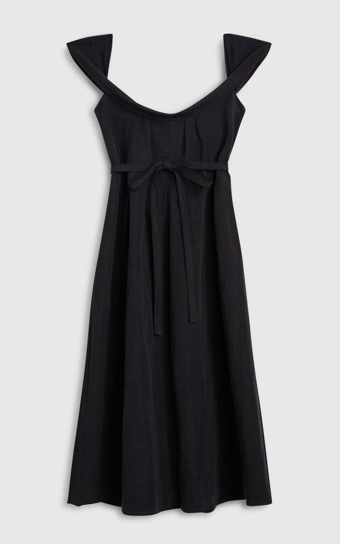 Patti Cotton-Linen Midi Dress