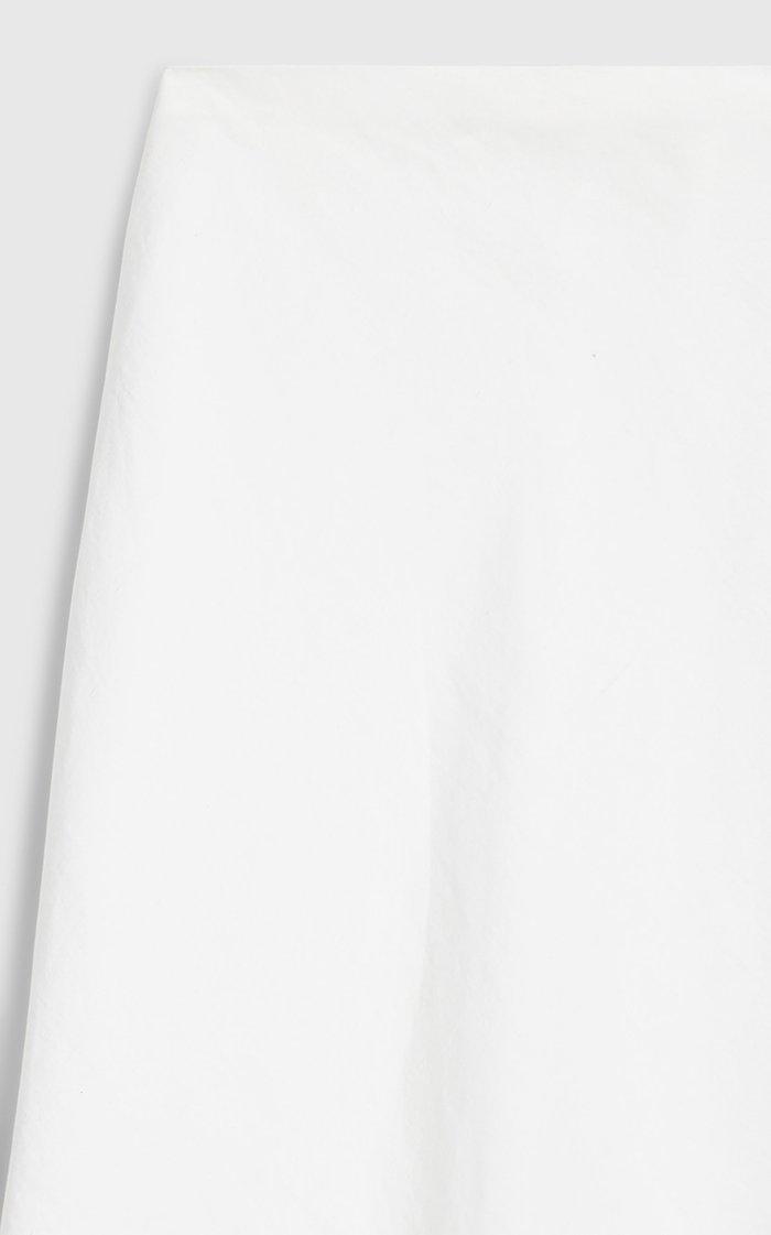 Smilla Cotton-Linen Midi Skirt