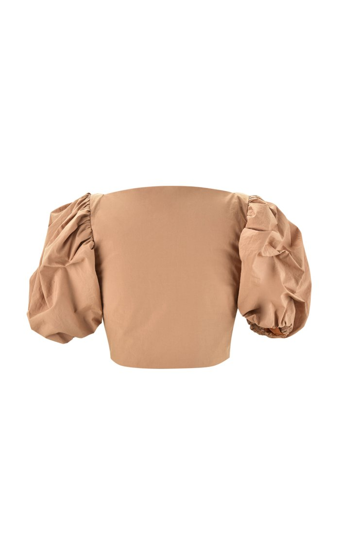 Sunset Hunting Ruched Cotton Crop Top