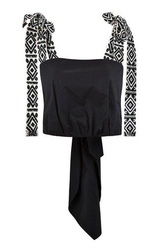 Rituals Tie-Detailed Cotton Crop Top