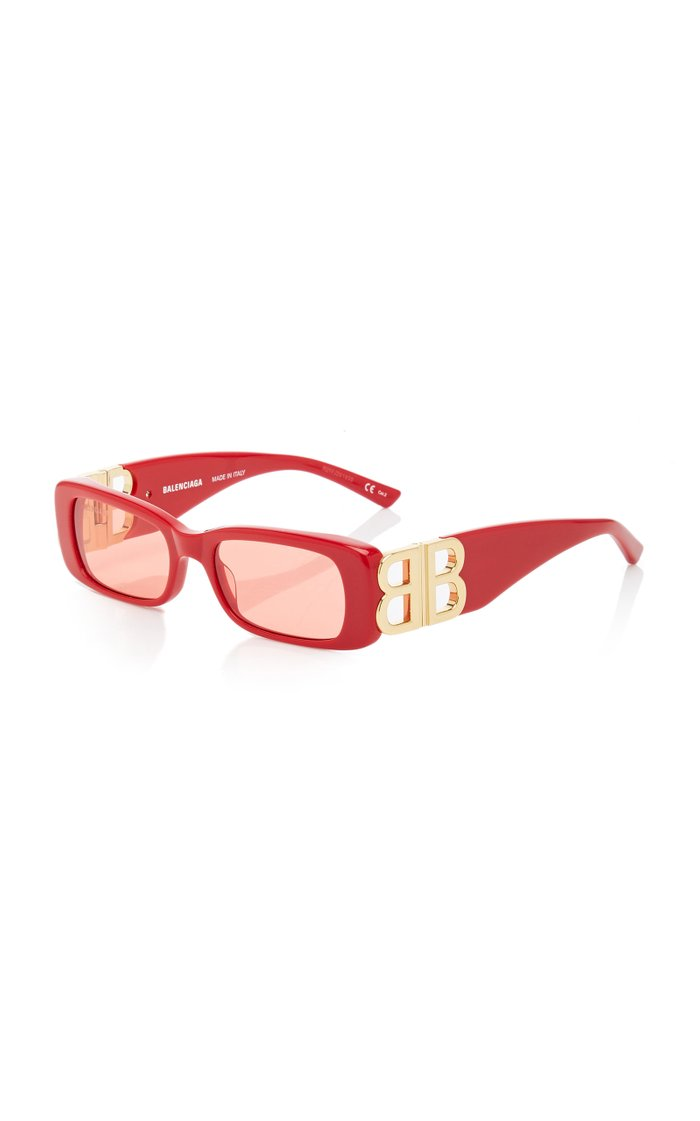 Dynasty Square-Frame Acetate Sunglasses