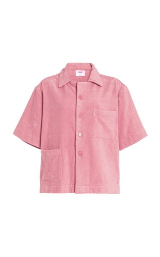 Dyed Cotton-Terry Shirt