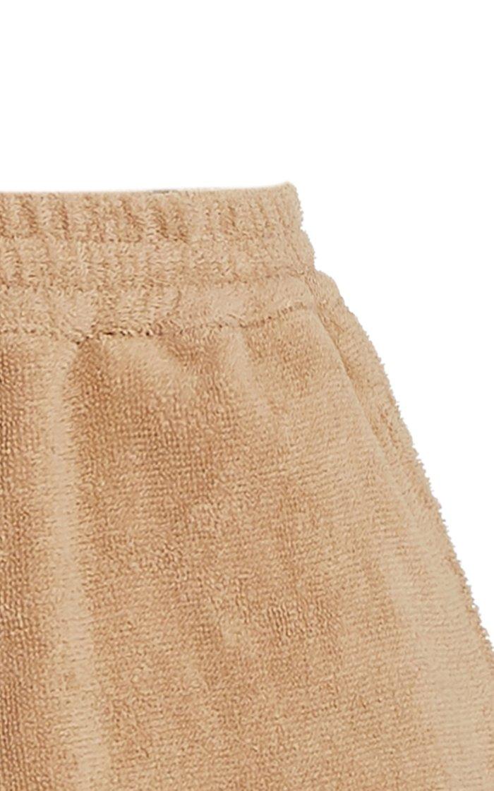 Estate Dyed Cotton-Terry Mini Shorts