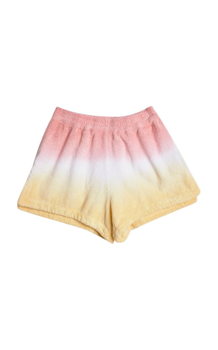 Estate Dyed Cotton-Terry Mini Shorts