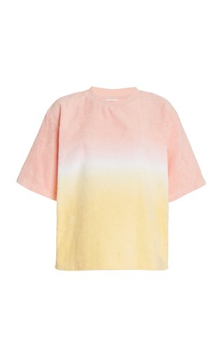 Dyed Cotton-Terry T-Shirt