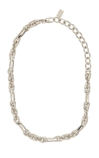 14K White Gold Lucky Gold Links Necklace
