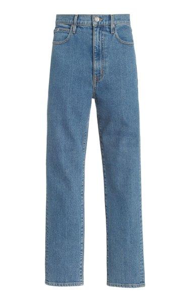 Beatnik Stretch High-Rise Cropped Slim-Leg Jeans