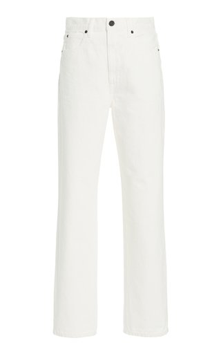 Dakota Rigid High-Rise Relaxed Tapered-Leg Jeans