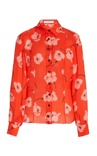 Floral Silk Georgette Shirt
