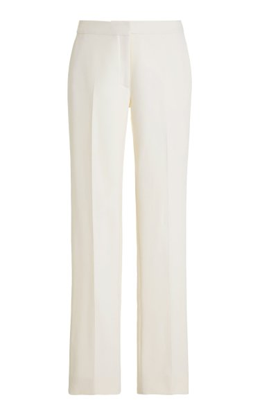 Double-Faced Stretch-Wool Straight-Leg Trousers