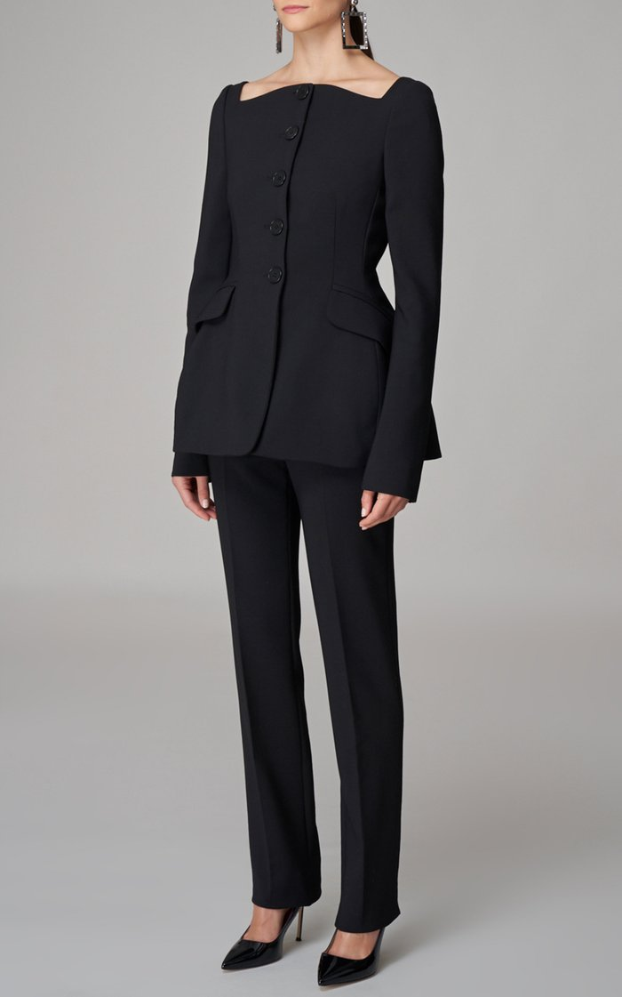 Tapered Double-Faced Stretch-Wool Blazer