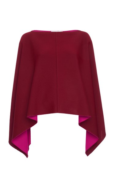 Oversized Double-Faced Poncho