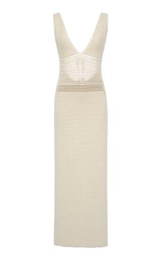 Cotton-Knit Midi Dress