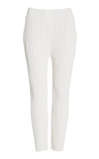 Soft Wool-Blend Tapered Trousers