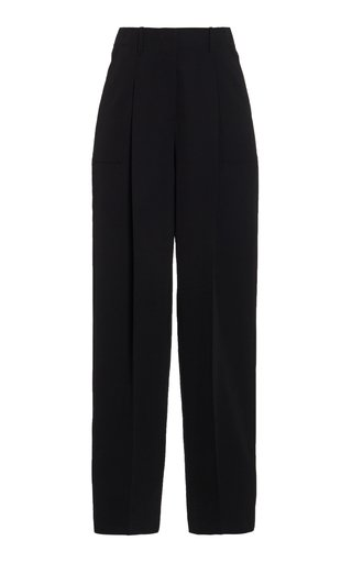 Jayda Wool-Twill Straight-Leg Trousers